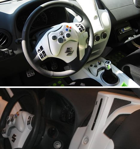 Steering wheel from the geek-mobile